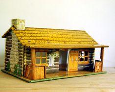 Vintage Toy Building Tin Marx Bar M Ranch 1950s by CalloohCallay, $38.00