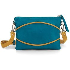 Nine to Five - Cross Body Bag Bank Blue Gold ($120) ❤ liked on Polyvore featuring bags, handbags, shoulder bags, mini shoulder bag, blue handbags, gold handbags, mini crossbody handbags and mini purse