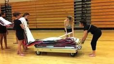 Dreading pulling out and folding up the floor. | Community Post: 13 Things All Winter Guard Performers Understand
