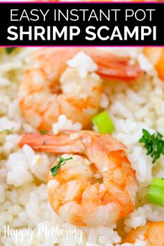 Learn how to make the best Shrimp Scampi in your Instant Pot! It's fast and easy to make a restaurant quality dinner for your family in this kitchen gadget. Shrimp Recipes, Beef Recipes, Cooking Recipes, Pasta Recipes, Yummy Recipes, Healthy Recipes, How To Cook Shrimp, How To Cook Pasta, Potted Shrimp