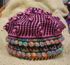 FUNKY HOT PINK CROCHET ROYAL CROWN by Xenobia Bailey