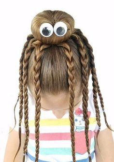 "Crazy Hairstyles Great Crazy Hairstyles For ""wacky Hair Day"" At School  Pinterest"