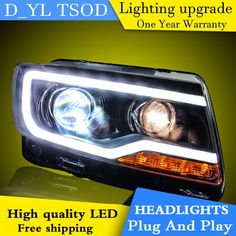 Car Styling Headlights For Jeep Compass 11 15 Led Headlight For