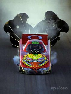 "Scotty Cannon's Funny Car in the NHRA""NITRO MATER"""