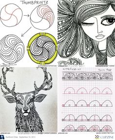 Zentangle Patterns & Ideas by nic heart Tangle Doodle, Tangle Art, Doodles Zentangles, Zen Doodle, Doodle Art, Doodle Ideas, Doodle Patterns, Zentangle Patterns, Quilt Patterns