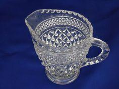 Creamer Vintage Anchor Hocking Wexford Pattern Clear Glass