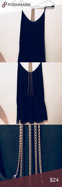 Open Back Dress   Chain Detail Excellent condition. Worn once. Unique dress. Cotton Candy Dresses