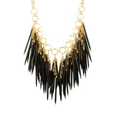 I love the RJ Graziano Wood Spike Statement Necklace from LittleBlackBag