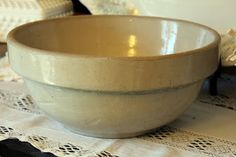 stoneware bowl...Mine is blue on the bottom half and in perfect condition too!