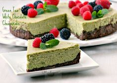 Try this luxuriously delicious GREEN TEA WHITE CHOCOLATE CHEESECAKE - a fabulously unique sweet treat! You won't be disappointed! :)
