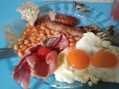 One of the things I love about coming home is having breakfasts like this.