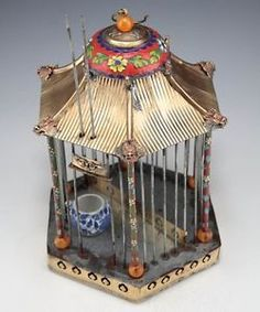 Image result for how to turn a birdcage into a doll house
