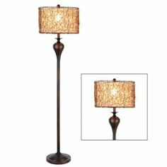 Rattan Shade Floor Lamp - $69.99