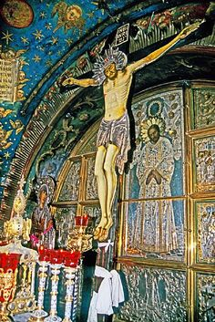 The Crucifixion Station of the Cross, Church of the Holy Sepulchre, Jerusalem