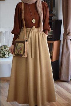Old Fashion Dresses, Modest Fashion Hijab, Modern Hijab Fashion, Muslim Women Fashion, Korean Fashion Dress, Hijab Fashion Inspiration, Skirt Fashion, Fashion Outfits, Fashion Fall