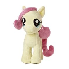 Small Plush Fluttershy My Little Pony by Aurora at Stuffed Safari ($7) ❤ liked on Polyvore featuring stuffed animal, toys, my little pony and pony
