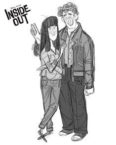 Young love ❤️ #younglove #love #couple #minnesota #pixar #insideout #animation #film #characterdesign #sketchartist #design #art #illustration #concept #womeninanimation (at Pixar)