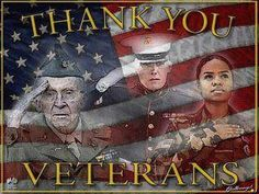 On this Veterans Day, please know that we thank you, past and present. God Bless you for giving your all and protecting our Country.