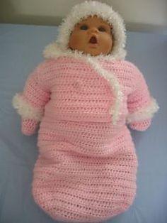 letsjustgethooking : Baby Doll Snowsuit# free #crochet pattern