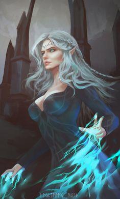 Lara Dorren by lightart_public - witcher Female Character Inspiration, Fantasy Character Design, Character Creation, Character Art, Dnd Characters, Fantasy Characters, Female Characters, Elfa, Witcher Art