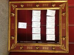 #SittingPlan sobre marco antiguo en tonos dorado y granate del #ParadordeCangasdeOnís #Asturias #Monasterio