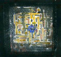 GRISAZUR: Acuarela sobre papel, 16,5x17,5 cm.Mar. 23, 2015