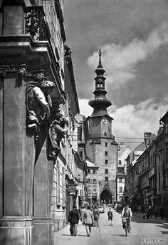 Bratislava by Karol Plicka Bratislava Slovakia, Php, Black And White Photography, Old World, Times Square, Wanderlust, Travel, Google, Happy