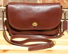 Vtg COACH City Bag in Mahogany // Dark Brown Leather Coach Crossbody Messenger-Style 9790 // Coach Classic Purse-Excellent Vintage Condition...