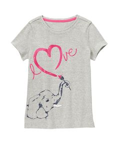 Love Elephant Glitter Tee at Gymboree (Gymboree 3-12y)