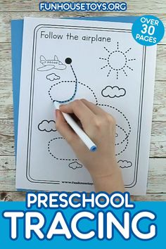 Fun Preschool Tracing Printables with over 30 Pages We are excited to kick off this school year with some fun and engaging tracing printable. Perfect for beginners that are just learning to hold a pencil. This set includes 30 Pages. Fine Motor Activities For Kids, Preschool Learning Activities, Free Preschool, Preschool Curriculum, Preschool Phonics, Preschool Themes, Preschool Lessons, Printable Preschool Worksheets, Kindergarten Worksheets