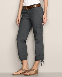 Slightly Curvy Adventurer® Stretch Ripstop Cropped Pants   Eddie Bauer