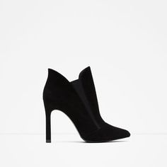 ZARA - WOMAN - HIGH HEEL STRETCH LEATHER ANKLE BOOT
