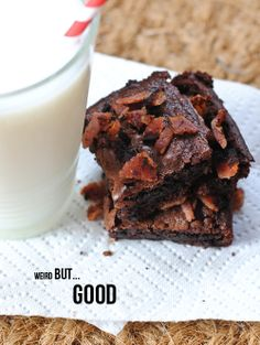 Bacon Brownies A twist on brownies » kailaniskorner.com