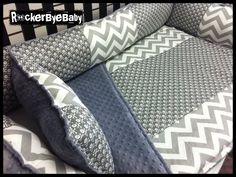 CUSTOM punk baby 4 piece MIXED PRINTS Charcoal by RockerByeBaby, $325.00