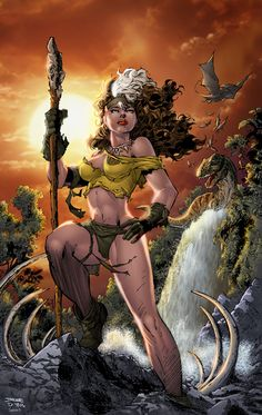 Rogue in Savage Land by Jim Lee Auction your comics on http://www.comicbazaar.co.uk