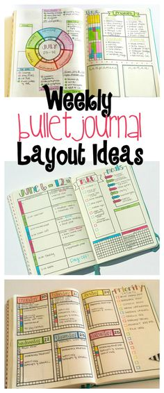 I like to think of my weekly bullet journal layouts as a weekly hub where I can…