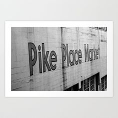 Seattle Pike Place Art Print by Adriana LaCorte