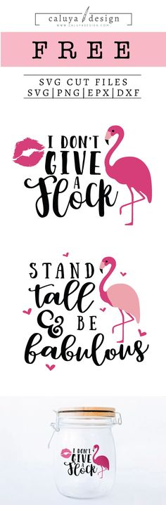 FREE Flamingo SVG cut file, Printable vector clip art download. Free printable clip art. Compatible with Cameo Silhouette, Cricut explore and other major cutting machines. 100% for personal use, only $3 for commercial use. Perfect for DIY craft project with Cricut & Cameo Silhouette, card making, scrapbooking, making planner stickers, making vinyl decals, decorating t-shirts with HTV and more! Free Summer Quote SVG cut file, Free Flamingo SVG cut file, Free don't give a flock SVG Cut File