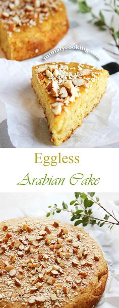 Besides the amazing taste, this cake has a heavenly aroma, coming from the combination of cardamom and saffron. Eggless Desserts, Eggless Recipes, Eggless Baking, No Bake Desserts, Vegan Desserts, Baking Recipes, Delicious Desserts, Cake Recipes, Dessert Recipes