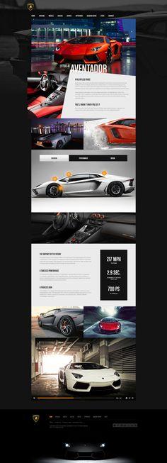 Lamborghini Concept by Peter Osmenda, via Behance Lamborghini Concept, Lamborghini Aventador, Car Editorial, Editorial Design, Web Design, Auto Design, Graphic Design, Ui Website, Car Ui