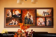 Fall Family Canvas sizes: (1) 20×24, (2) 11×21's, (2) 12×12'x, (2) 8×12's)