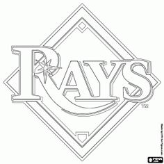 Sports i like on pinterest baseball tampa bay for Baseball teams coloring pages