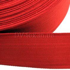Лента отделочная , 32мм, красная (полиэстеровая), тесьма окантовочная, обшивка, отделочная лента купить оптом и в розницу