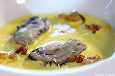 Huîtres pochées à la crème de safran