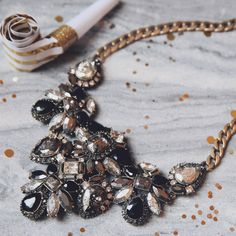 Stand out in our Midnight Palace Statement Necklace – now   available on my c+i boutique! https://www.chloeandisabel.com/lisahaas