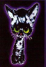 Sad Kitty Keychain