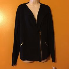 Awesome and brand new with tags! Chicos jacket! This heavy sweater is amazing! It is beautiful! And brand new! Chicos Sweaters