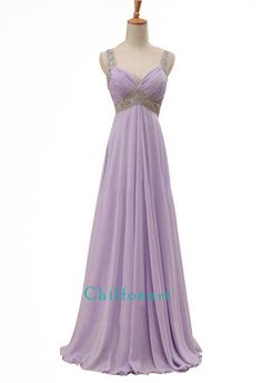 Bretelle Dress Chiffon Dress Prom Dress Elegant by chiffonarts