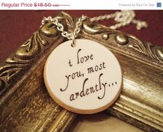 Pride and Prejudice... I want a necklace like this.