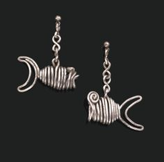"Earrings | Alexander Calder. ""Fish"". Silver wire. ca. 1932 